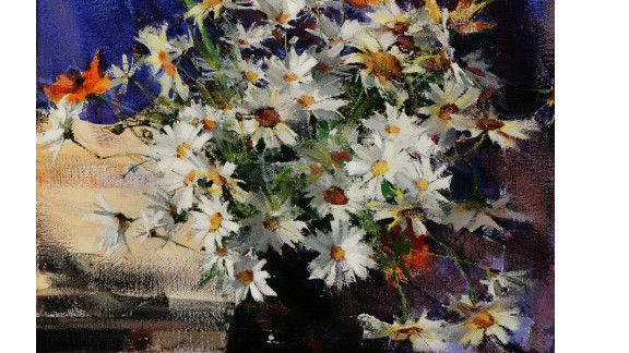 """""""Daisies,"""" by Nicolai Fechin, is one of the pieces Filatov has found for his art fund."""