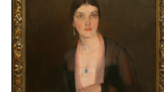 This is a Nicolai Fechin piece called ``Alexandra,