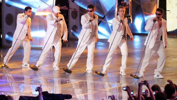 "Danny Wood, Donnie Wahlberg, Jordan Knight, Joey McIntyre and Jonathan Knight of New Kids on the Block perform live in 2008. The group, which rose to superstardom in the late '80s and early '90s, reunited for 2008's ""The Block"" and 2011's ""NKOTBSB"" with the Backstreet Boys. The Kids released their box set ""10"" in 2013."