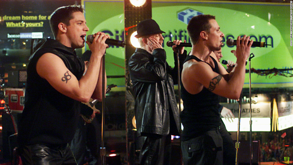 "98 Degrees (seen here performing  in 1999) announced in May that they will be heading out on a holiday music tour for the 2018 season.  Made up of brothers Nick and Drew Lachey, Justin Jeffre and Jeff Timmons. The group released three albums, in addition to one Christmas album, between 1997 and 2000. Their album, ""2.0,"" arrived in 2013 and they released a Christmas album, ""Let It Snow,"" in 2017."