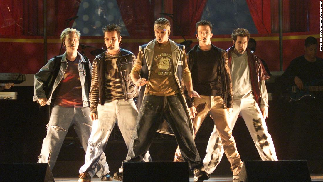 "*NSYNC members Lance Bass, Chris Kirkpatrick, Justin Timberlake, JC Chasez and Joey Fatone struck gold in the United States with ""I Want You Back"" in 1998. Before they broke up in 2002, the group established a mega fan base with songs like ""No Strings Attached"" and ""Bye, Bye, Bye."" Although they're not together anymore, *NSYNC is as popular as ever; you should've heard the shrieking their reunion at the 2013 MTV Video Music Awards caused."