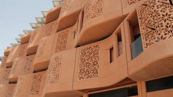 The Masdar Institute campus features a latticed motif on its building.