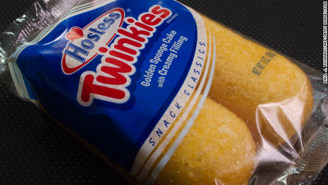 A photo of a twin pack of Hostess Twinkies taken January 11, 2012, made by Interstate Brands is viewed in Washington,DC.   Hostess Brands, the baker of Twinkie cakes and other iconic American foods, filed for bankruptcy protection Wednesday after failing to win concessions on union contracts. Founded in 1930, Hostess owns brands that were emblematic of American food for generations. Its popular Twinkie, a snack cake with a creamy filling, was launched that year. The company claims its Wonder bread, a vitamin-enriched sliced bread, was the first 100 percent natural bread available across the United States. AFP Photo/Paul J. Richards (Photo credit should read PAUL J. RICHARDS/AFP/Getty Images)