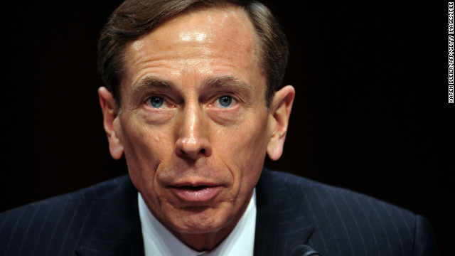 "CIA Director David Petraeus, testifies before the US Senate Intelligence Committee during a full committee hearing on ""World Wide Threats.""  on January 31, 2012 on Capitol Hill in Washington, DC. Witnesses include: Director of National Intelligence, James Clapper, FBI Director Robert Mueller(L); Defense Intelligence Agency Director Lt. Gen. Ronald Burgess; National Counter terrorism Center Director Matthew Olsen; Assistant Secretary of State for Intelligence and Research Philip Goldberg; and Homeland Security Undersecretary for Intelligence and Analysis Caryn Wagner. AFP PHOTO/Karen BLEIER (Photo credit should read KAREN BLEIER/AFP/Getty Images)"