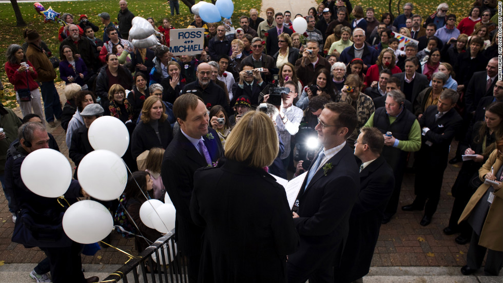 Connecticut allows same sex marriage