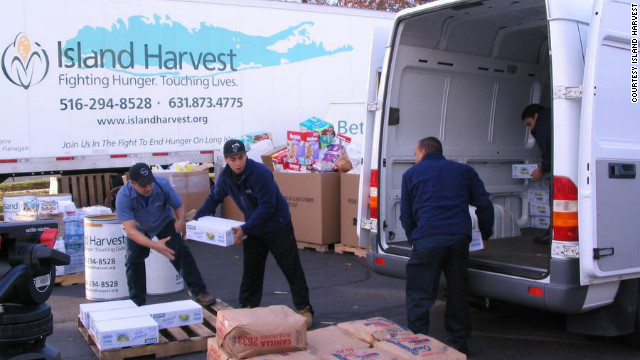 A drive benefiting Island Harvest food bank, a Feeding America partner in Sandy recovery, collected more than 2,000 turkeys.