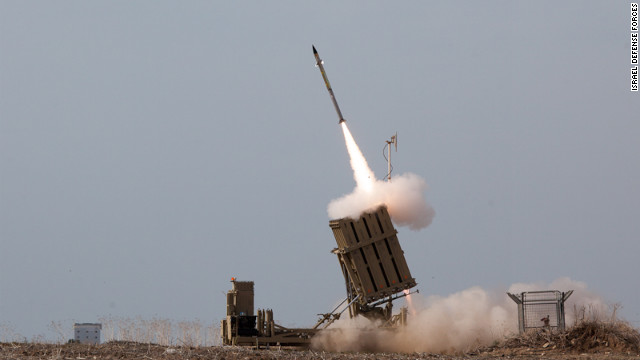 Iron Dome missiles stop Hamas rockets