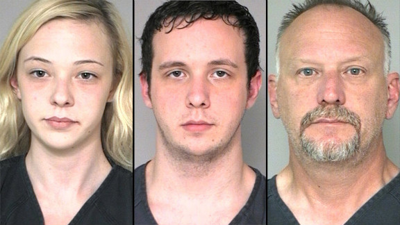 Police allege Ronald S. Catt, right, and son Hayden Scott Catt robbed a bank and that daughter Abigail Catt drove for them.