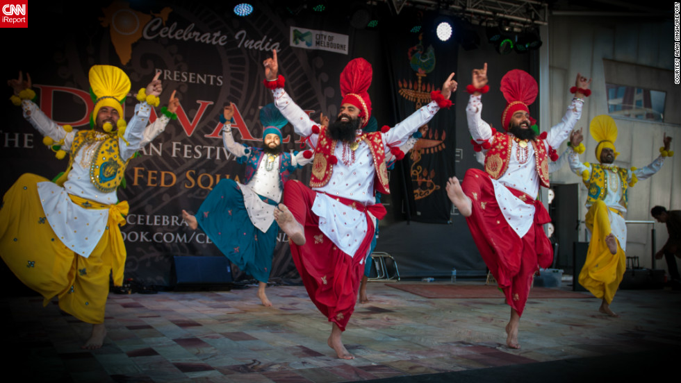"<a href=""http://ireport.cnn.com/docs/DOC-881415"" target=""_blank"">Alam Singh</a> captured this cool image of Diwali celebrations in downtown Melbourne, Australia. ""There were many dance performances by local and foreign talent, and of course the 8000 plus people in the crowd dancing too,"" he says."