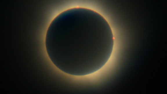 """This was John Lindsay Stevenson's second eclipse. The 52-year-old postman from the small island of Bribie says: """"My father took me to my first eclipse in 1976 when I was 16, but it was totally clouded out and we never saw it. It was a huge disappointment but it was enough to definitely want to experience another."""""""