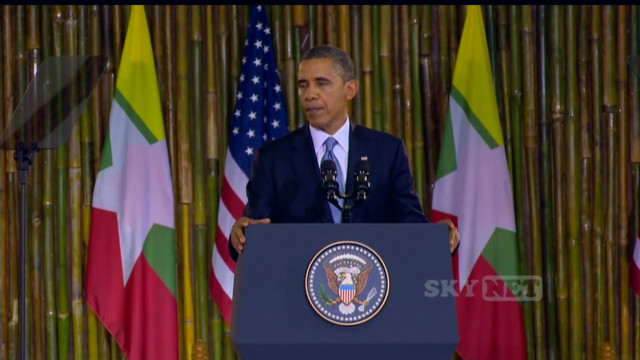 Obama on Myanmar's 'flickers of progress'