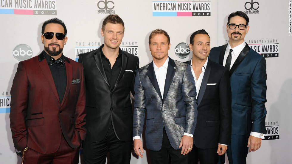 """I'm thankful for our 20th anniversary, with all five of us back together,"" Howie Dorough of the Backstreet Boys told <a href=""http://www.people.com/people/videos/0,,20649397,00.html"" target=""_blank"">People magazine</a> at the American Music Awards on November 19. Nick Carter added: ""I'm thankful to the AMAs for letting us come here 'cause we're so old and we've been around forever."""