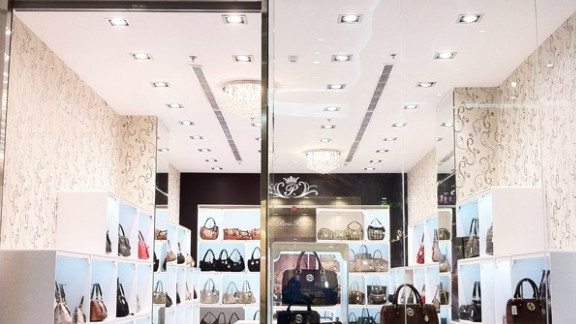 """Hilton tweeted: """"Loving my beautiful new store that just opened at Mecca Mall in Saudi Arabia!"""" with this picture of the store."""