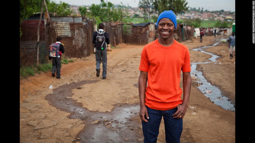 "Thulani Madondo struggled as a child growing up in the slums of Kliptown, South Africa. Today, his Kliptown Youth Program provides school uniforms, meals, tutoring and after-school activities to 400 children in the community. ""We're trying to give them the sense that everything is possible,"" he said."