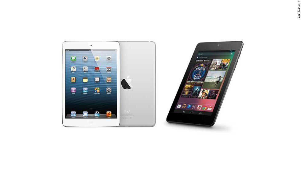 "Ten-inch tablets are so last year. This season's hottest gifts are ultraportable 7-inch tablets. They're great for consuming media, and there are quality options for each major operating system. The <a href=""http://www.apple.com/ipad-mini/overview/"" target=""_blank"">iPad Mini</a> (left) starts at $329, and Google's Android-based <a href=""http://www.google.com/nexus/7/"" target=""_blank"">Nexus 7</a> (right) starts at $199."