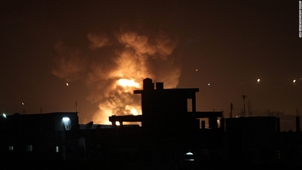 The Israeli military strikes border tunnels between Egypt and southern Gaza on Tuesday, November 20.