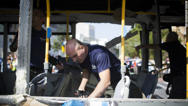 Suspect arrested in Tel Aviv bus bombing