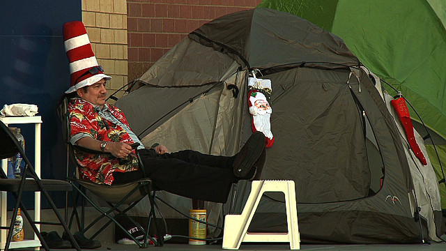 Deal seekers set up Black Friday camp