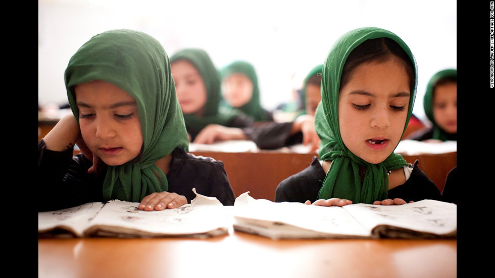 "Photographer Veronique de Viguerie lived in Afghanistan for many years. ""With this education,"" de Viguerie said, ""some of these girls will be able to protect Afghan women, to find solutions for the future, to be the change of the country."""