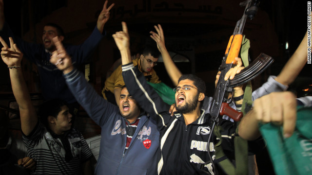 Gazans celebrate cease-fire