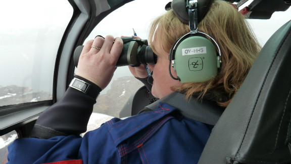 Ice observer Jane Robertson keeps a lookout for icebergs that clog shipping lanes.
