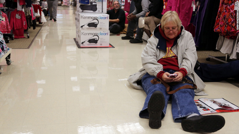 Shoppers came out early at Sears for the 4 a.m. doorbuster deals in Highland, Indiana.