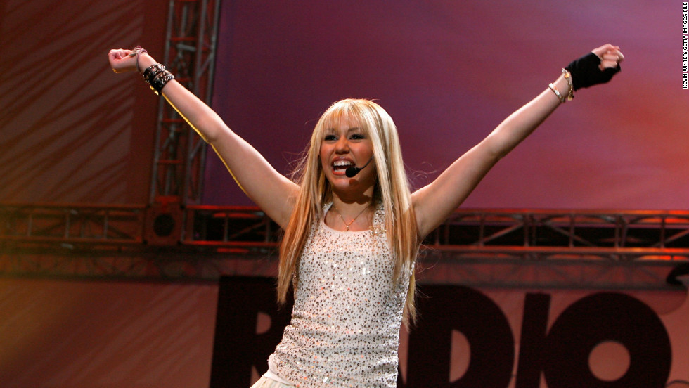 The role turned Cyrus into a singer as well as an actress. Here, she performs at a Radio Disney concert held in Anaheim, California, in July 2006.