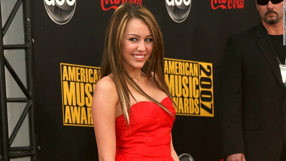 Cyrus is a frequent guest at the American Music Awards. Here, she arrives at the 2007 show just days before her 15th birthday.