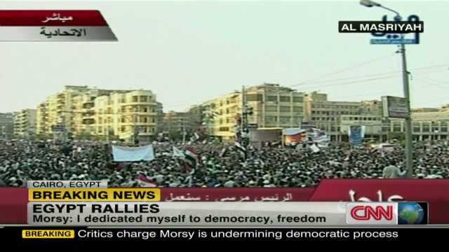 Protests and clashes erupt in Egypt