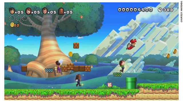 """New Super Mario Bros. U"" is a popular game for Nintendo's new Wii U console."