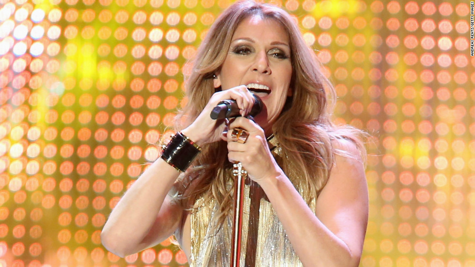 Celine Dion performs at the 2012 BAMBI Awards in Duesseldorf, Germany, on November 22.
