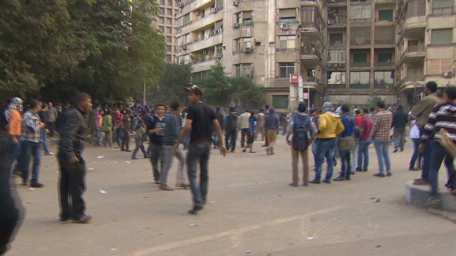 Walking through the Cairo protests