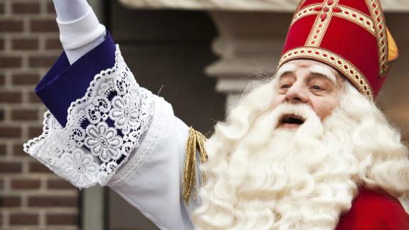 """Meet Sinterklaas -- think of him as a """"bridge Santa"""" between St. Nicholas and modern Santa."""