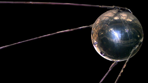 Sputnik I, the world's first satellite, was launched by the Soviet Union on October 4, 1957. It orbited the Earth every 98 minutes.