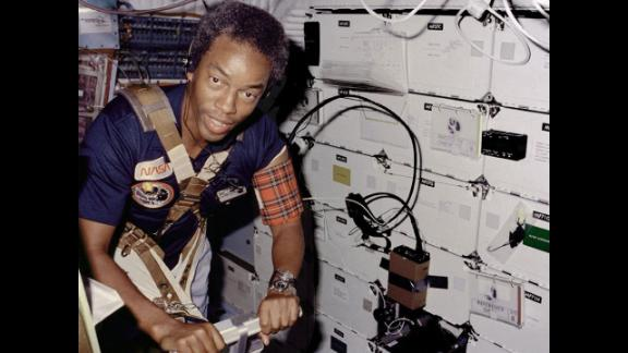 """Guion """"Guy"""" Bluford was the first African-American to go into space. He was a mission specialist on the space shuttle challenger in 1983."""