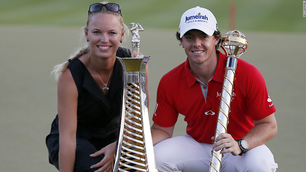 McIlroy was watched every step of the way in Dubai by his girlfriend -- tennis star Caroline Wozniacki.
