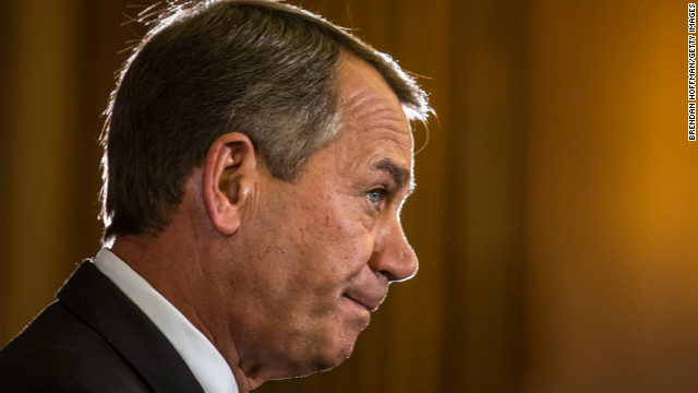 John Boehner has countered the White House's offer to avert the fiscal cliff with a package that would cut spending by $1.2tn.