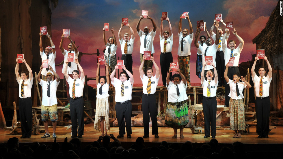 the cast of the book of mormon during the - Broadway Christmas Shows
