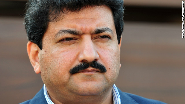 Pakistani journalist and television anchor, Hamid Mir in November 2012.