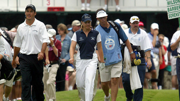 Sorenstam became the first woman to take part in a men