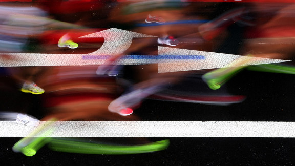 Athletes compete in the women's marathon on Day 9 of the London 2012 Olympic Games on August 5.