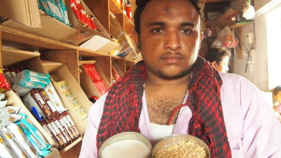Yemeni shopkeeper Ala