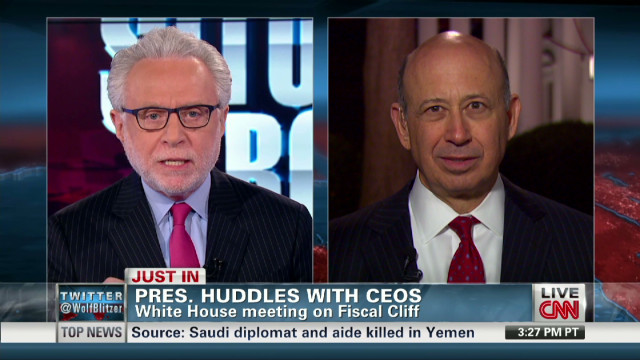 Goldman Sachs CEO talks with CNN