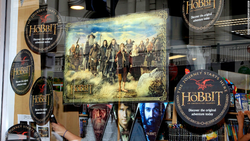 The inevitable merchandising machine is never far away, with a whole array of Hobbit-related products on sale.