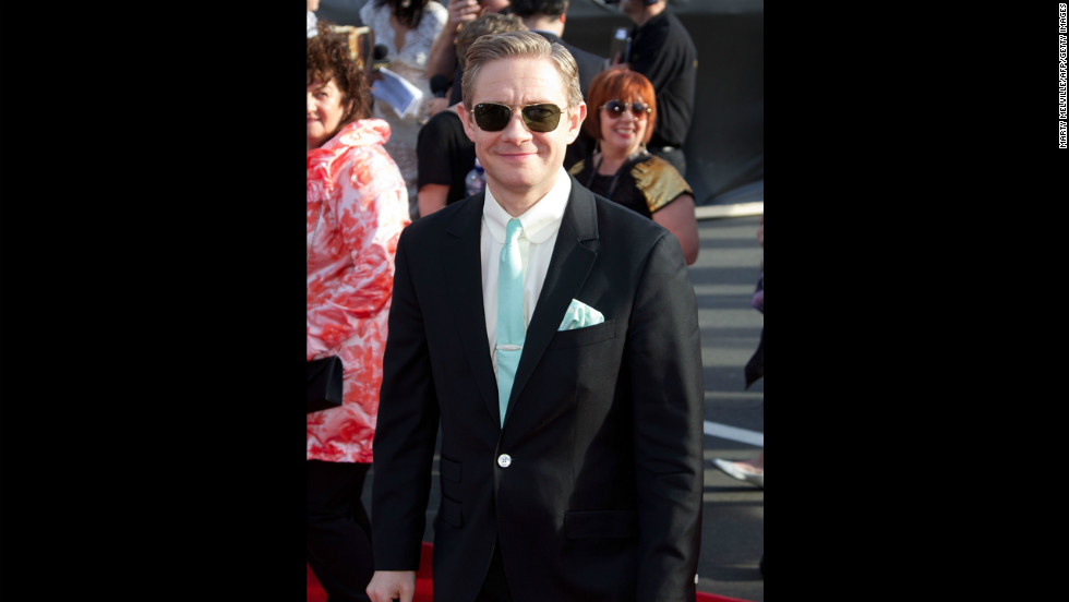 Actor Martin Freeman, who plays Bilbo, arrives for the world premiere.