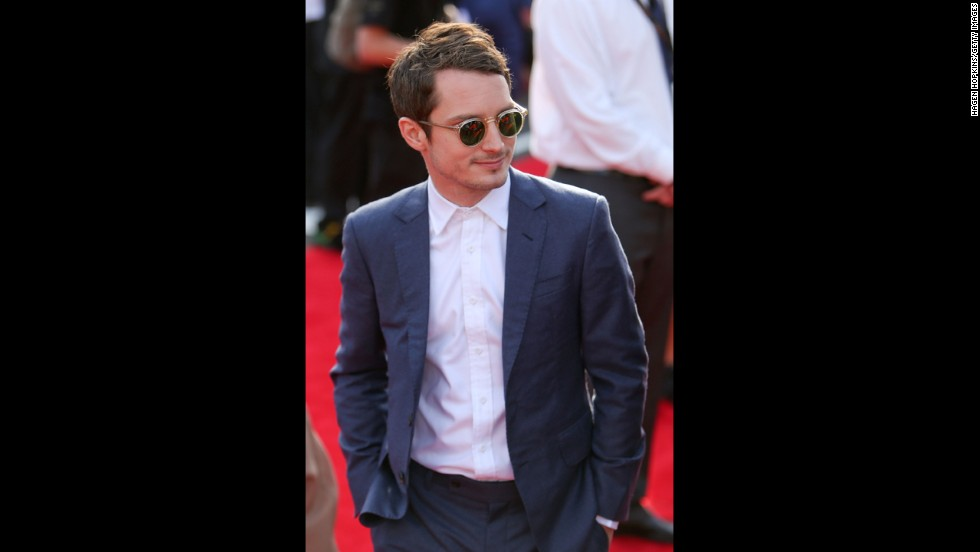 "Elijah Wood, who plays Frodo in ""The Lord of the Rings"" and ""The Hobbit: An Unexpected Journey,"" is seen at the world premiere."