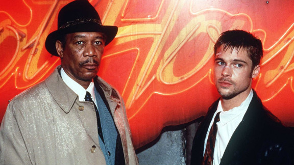 """In 1995, Pitt had another breakout role in the thriller """"Se7en,"""" in which he co-starred with Morgan Freeman."""