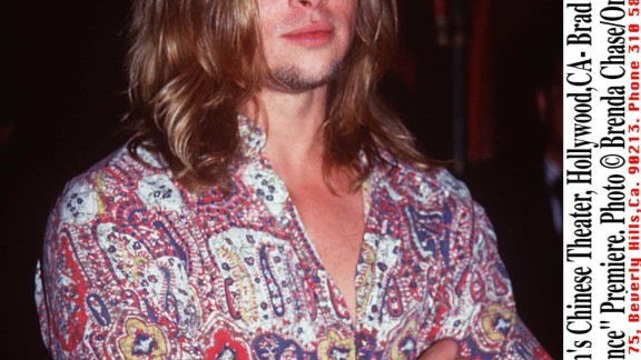 """Pitt's long locks were on full display at the September 1993 premiere of his film """"True Romance."""" Looking back, Pitt told CNN, he wouldn't have any career advice for his younger self. """"I think that guy did all right. I think he figured it out quite fine. I don't think I need to tell him much."""""""