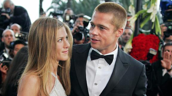 """When Pitt and Aniston arrived for the premiere of """"Troy"""" at Cannes in May 2004, they were just months away from announcing the end of their marriage. That news came with a formal statement in January 2005."""