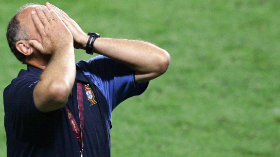 """""""Big Phil"""" also enjoyed a degree of success in charge of Portugal. When the Iberians hosted Euro 2004 all appeared to be going to plan as Portugal reached the final. But Scolari and his team were beaten 1-0 by underdogs Greece in the Lisbon final."""